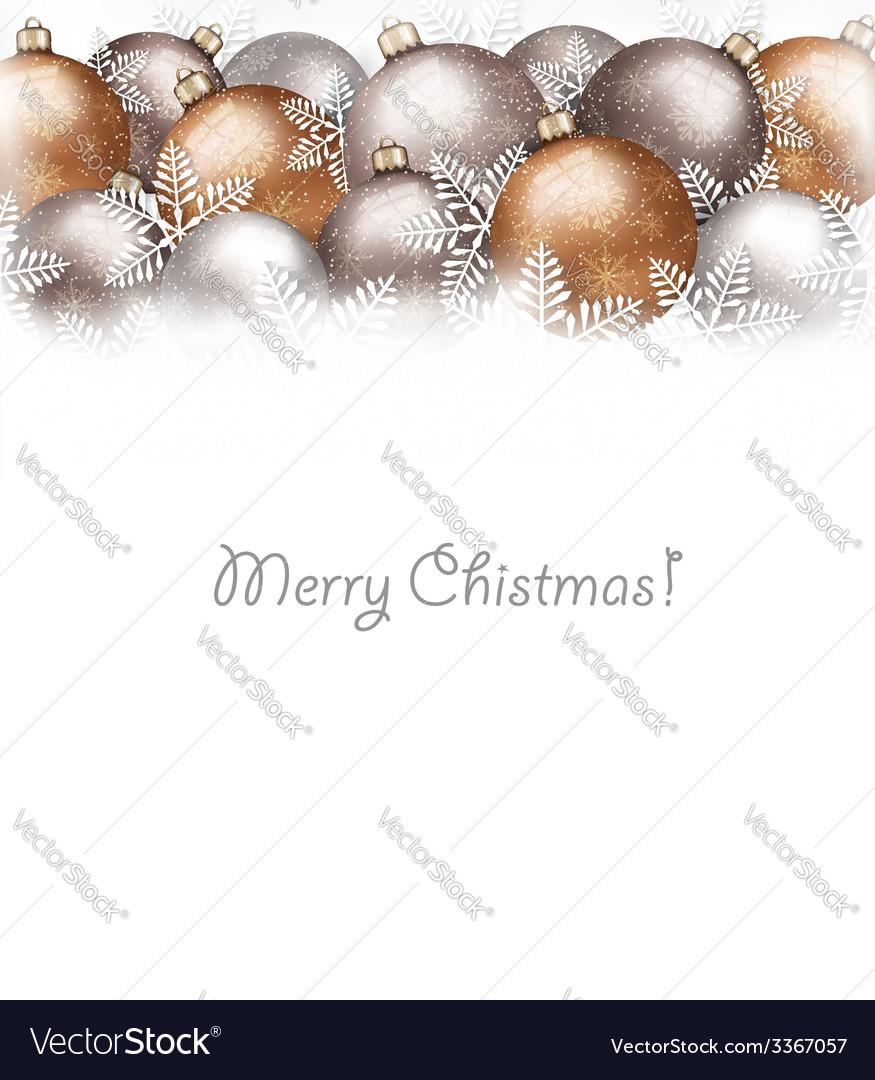 Christmas balls and snowflake on holiday vector   Price: 5 Credit (USD $5)