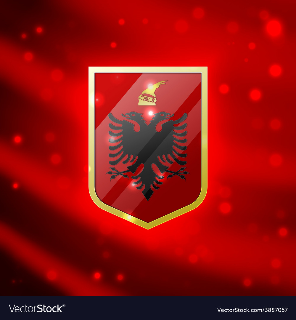 Coat of arms of albania vector | Price: 3 Credit (USD $3)