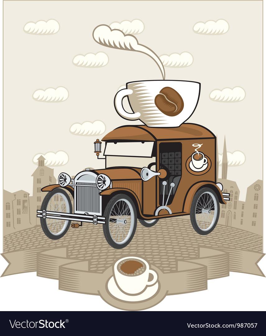 Coffee car vector | Price: 3 Credit (USD $3)