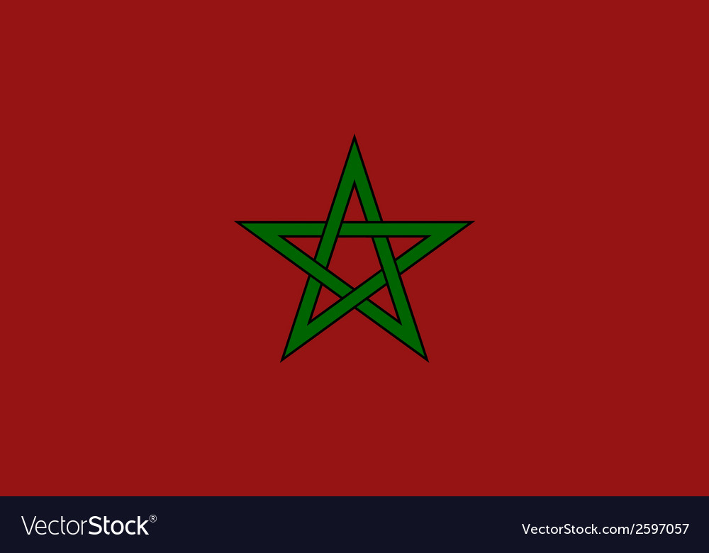 Flaf of morocco vector | Price: 1 Credit (USD $1)