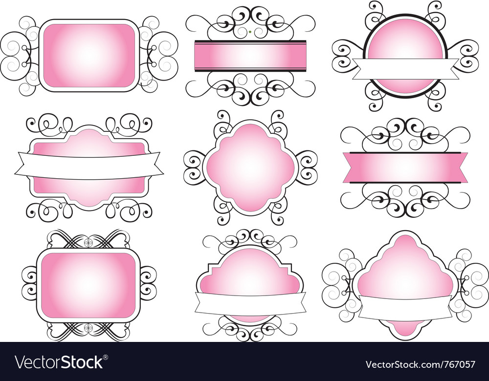 Floral ornamental banner vector | Price: 1 Credit (USD $1)