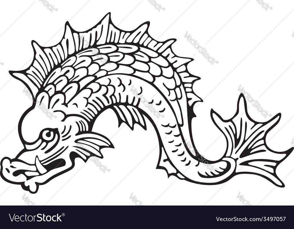 Heraldic dolphin no5 vector | Price: 1 Credit (USD $1)