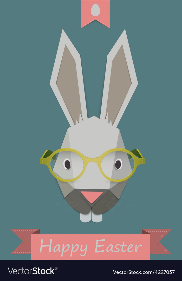 Hipster bunny vector | Price: 1 Credit (USD $1)