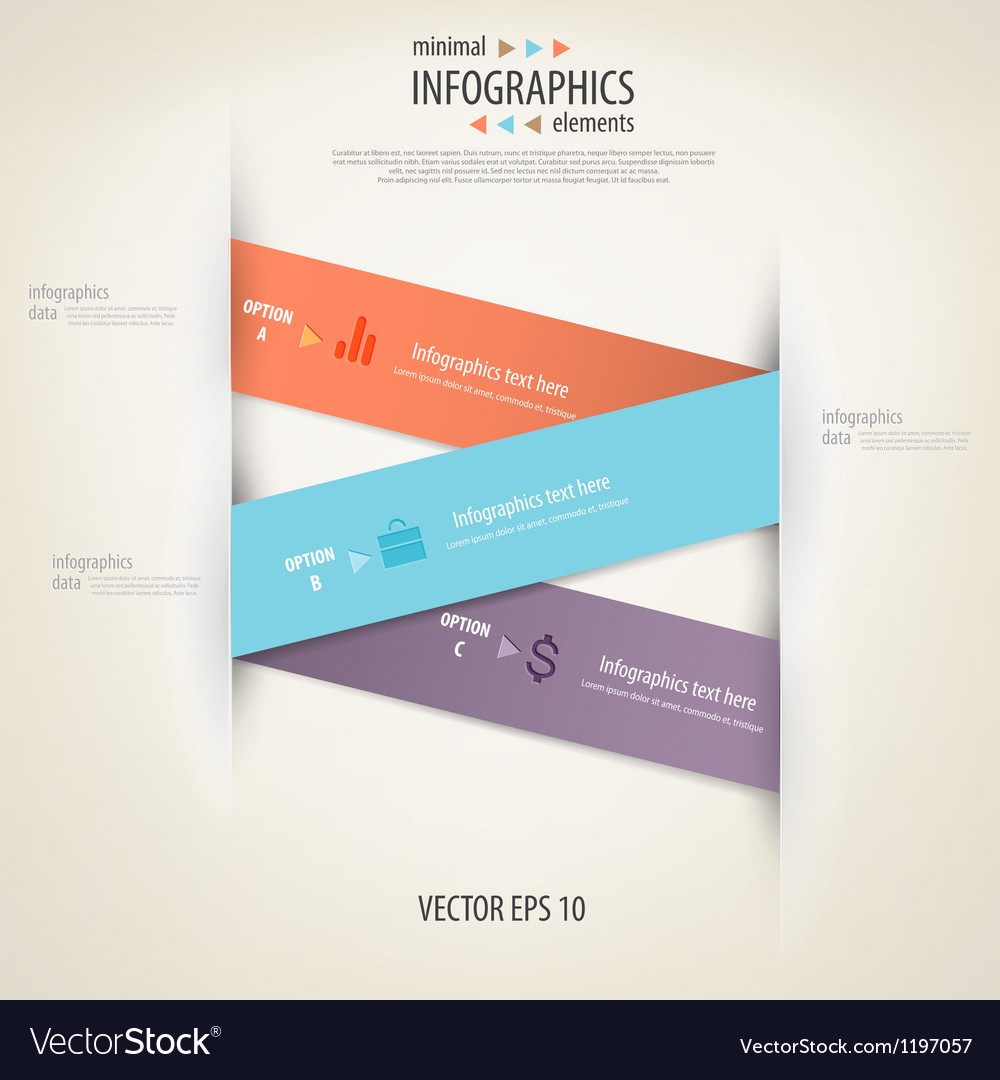 Infographics minimal 3 vector | Price: 1 Credit (USD $1)