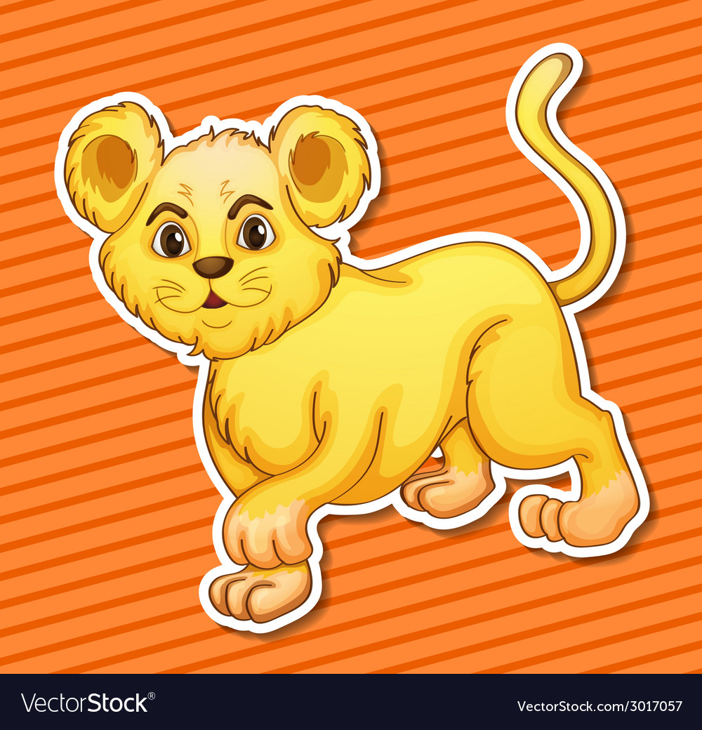 Lion cub vector | Price: 1 Credit (USD $1)