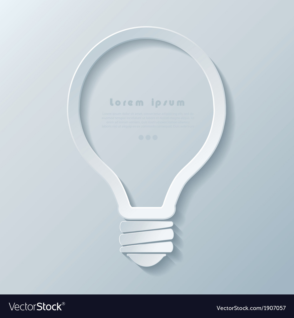 Modern idea lightbulb icon banner template vector | Price: 1 Credit (USD $1)