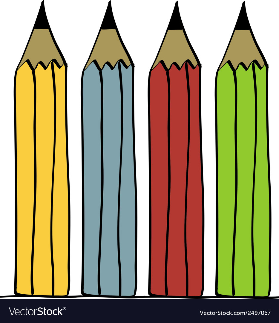 Pencil set vector | Price: 1 Credit (USD $1)