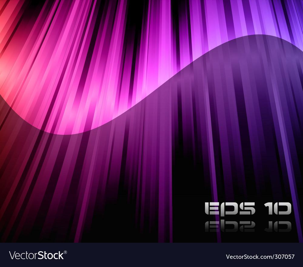 Rainbow lights background vector