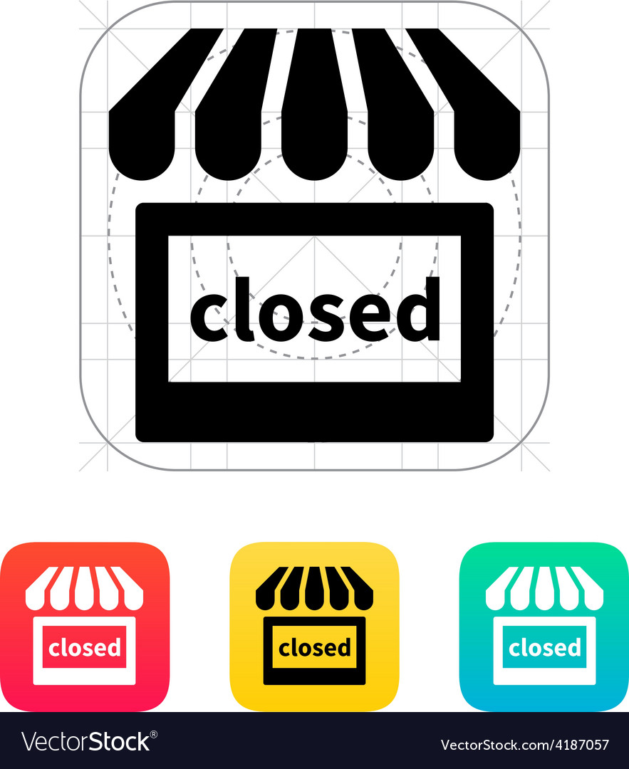 Shop closed icon vector | Price: 1 Credit (USD $1)