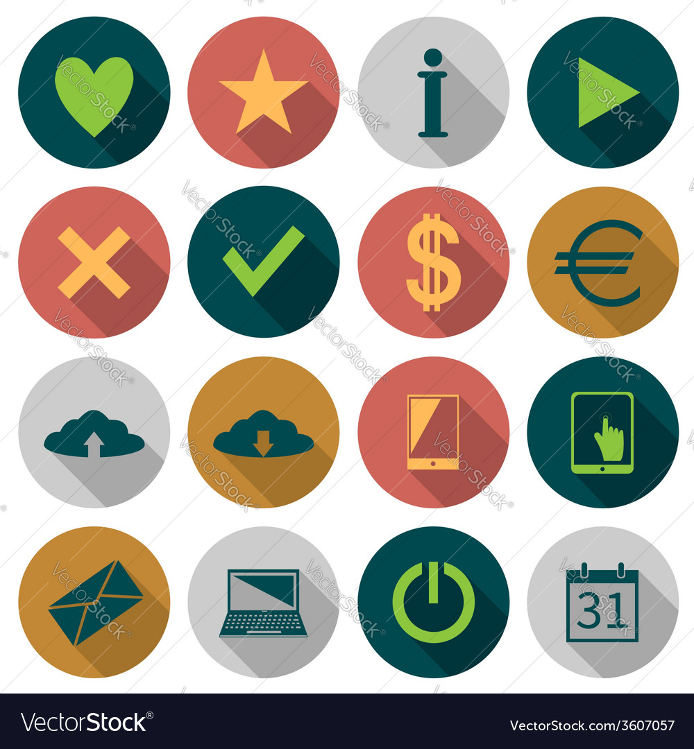 Web flat icons vector | Price: 1 Credit (USD $1)