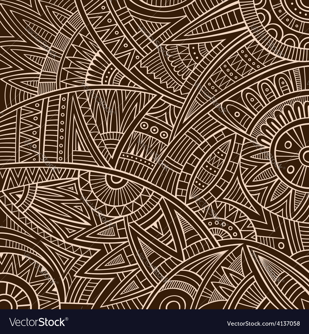 Abstract tribal ethnic background vector | Price: 1 Credit (USD $1)