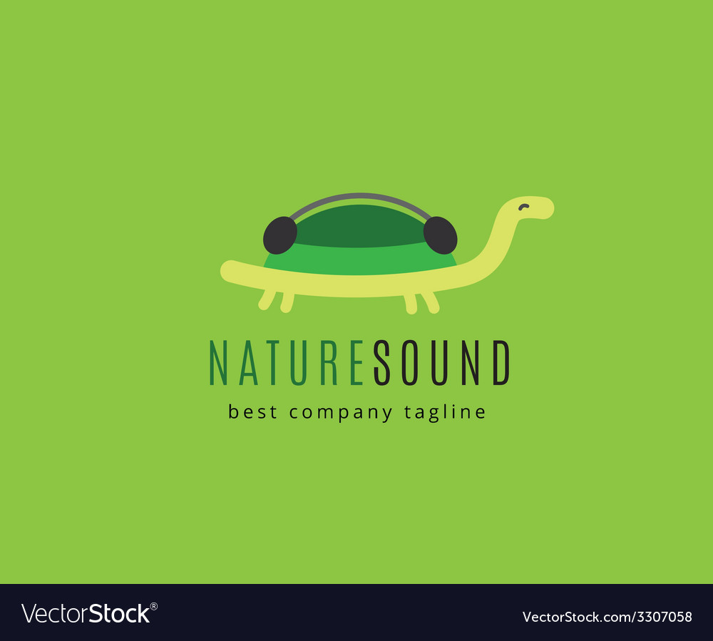 Abstract turtle with headphones logo icon concept vector | Price: 1 Credit (USD $1)