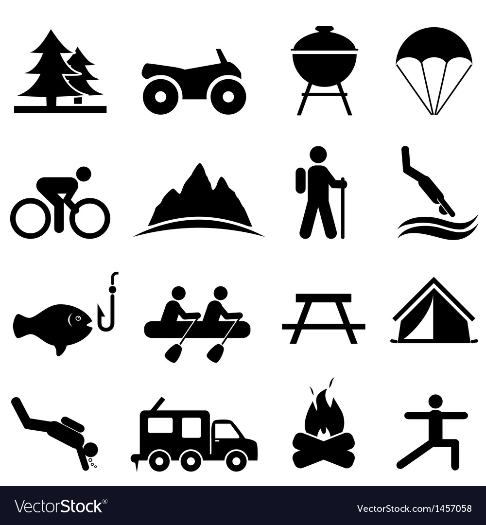 Fitness and leisure icons vector | Price: 1 Credit (USD $1)
