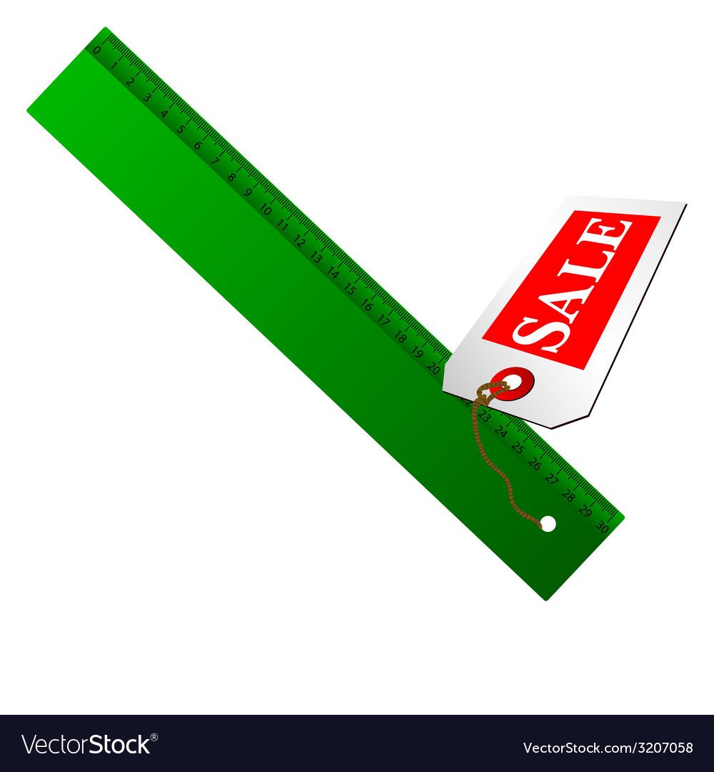 Green ruler for sale vector | Price: 1 Credit (USD $1)
