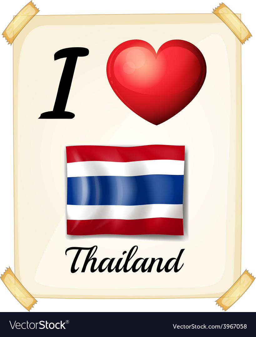 I love thailand vector | Price: 1 Credit (USD $1)