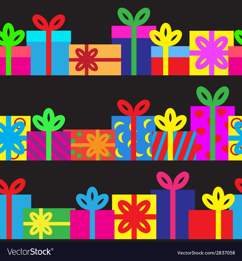 Set of seamless series of gift boxes vector   Price: 1 Credit (USD $1)