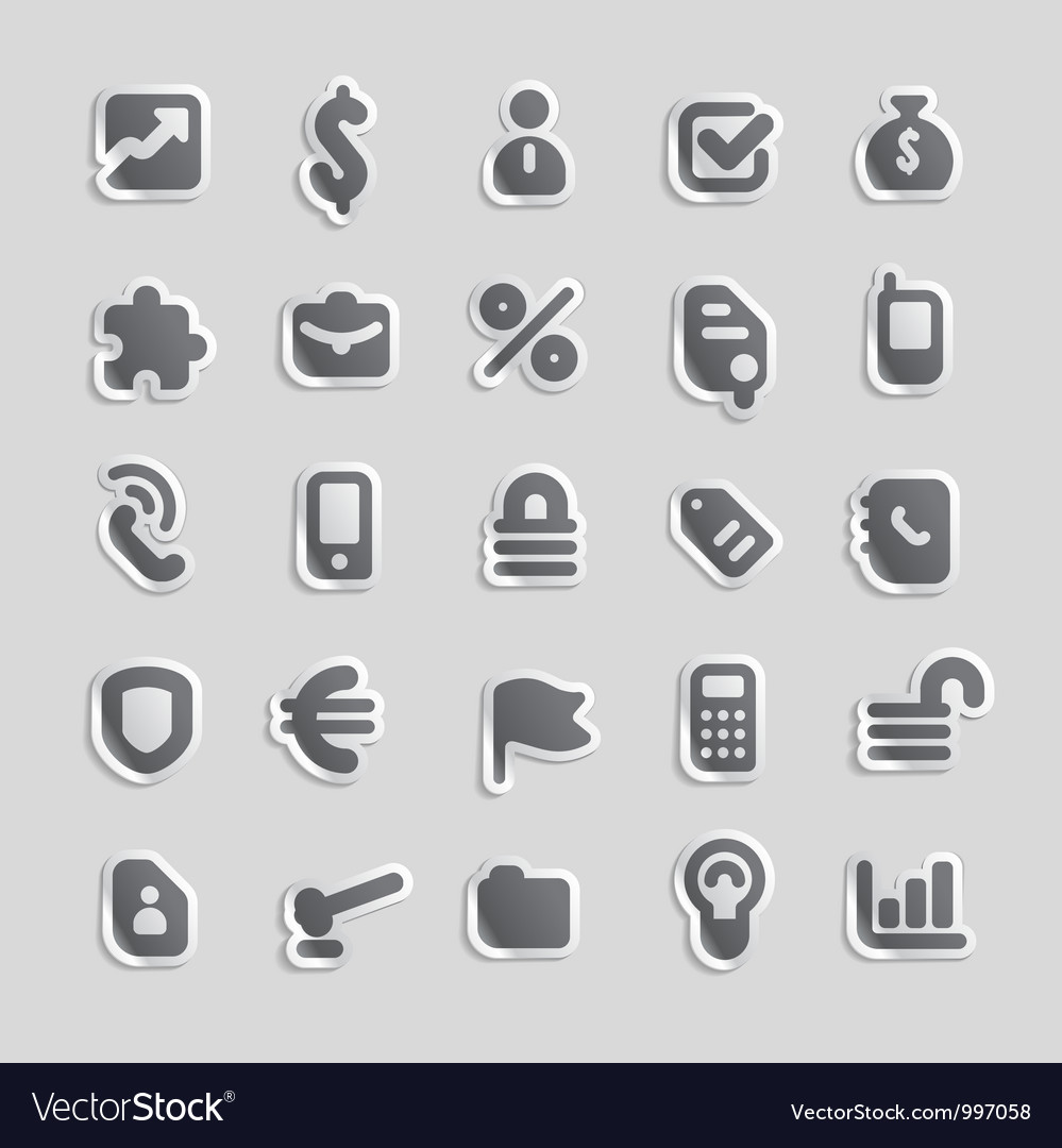 Sticker icons for business vector | Price: 1 Credit (USD $1)