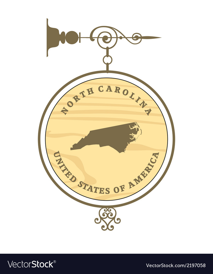 Vintage label north carolina vector | Price: 1 Credit (USD $1)