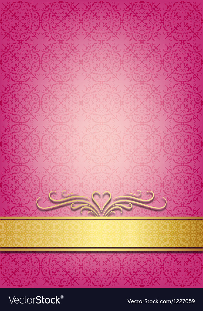 Abstract pink invitation vector | Price: 1 Credit (USD $1)