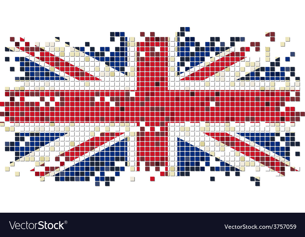 British grunge tile flag vector | Price: 1 Credit (USD $1)