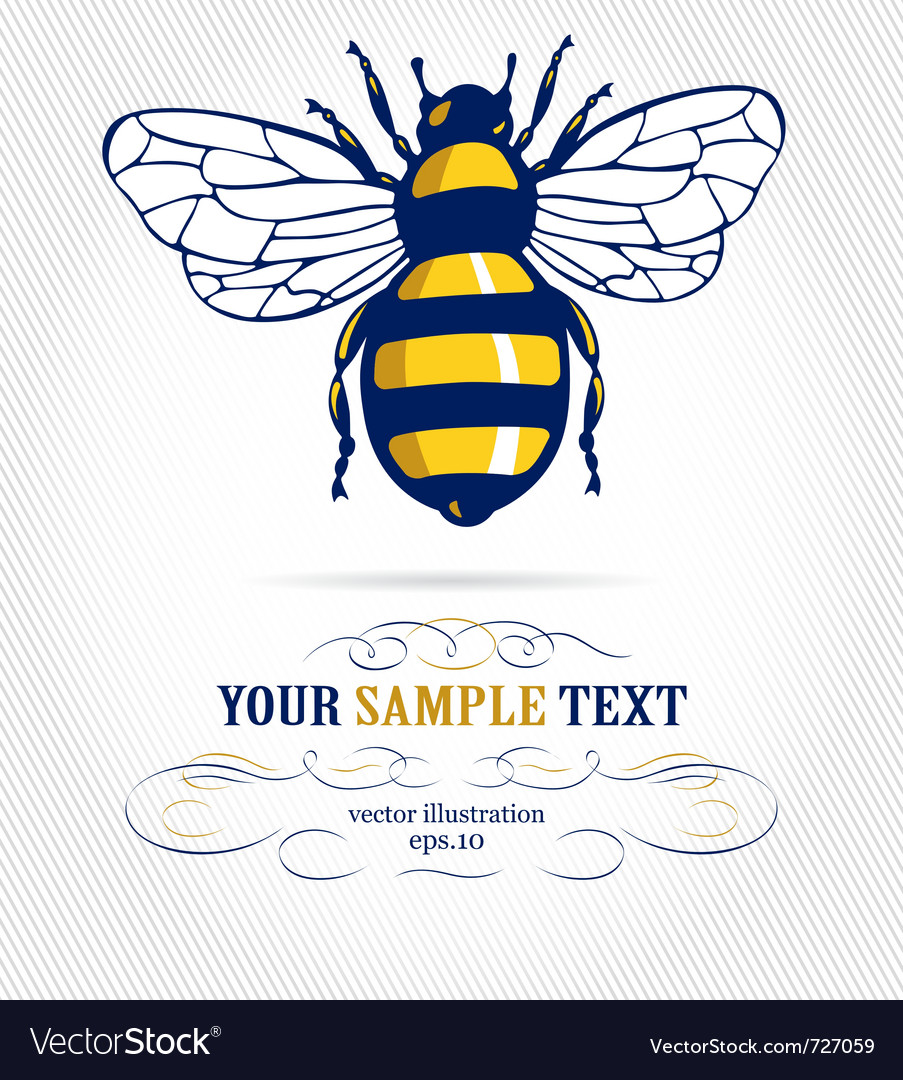 Cartoon honeybee vector | Price: 1 Credit (USD $1)