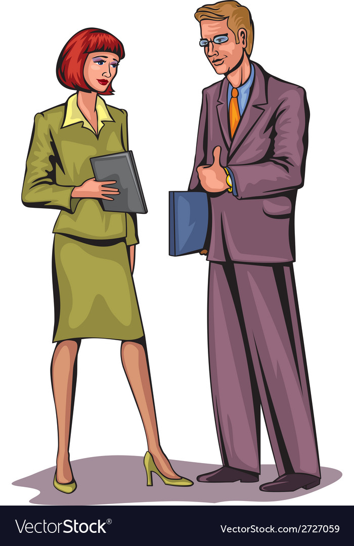 Couple businessmen vector | Price: 1 Credit (USD $1)