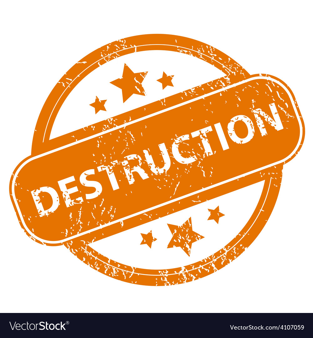 Destruction grunge icon vector | Price: 1 Credit (USD $1)
