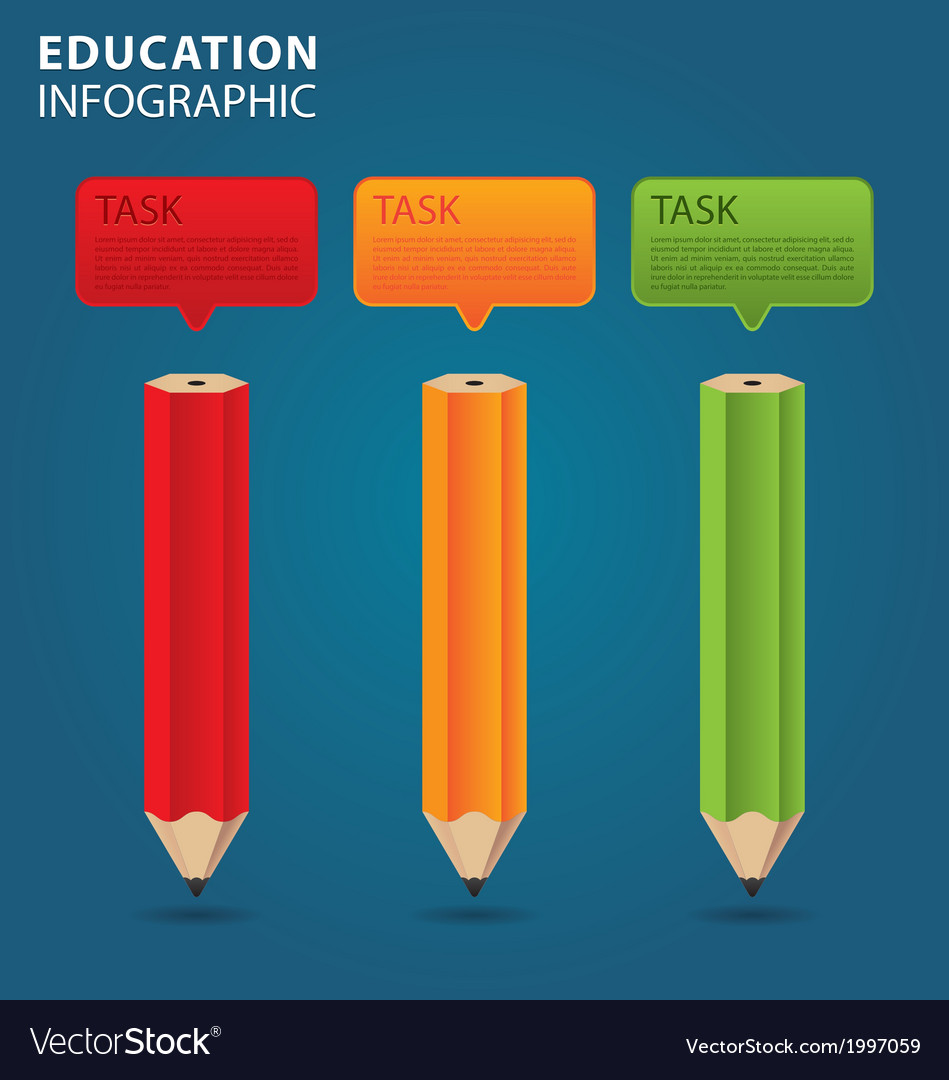 Education info graphic vector | Price: 1 Credit (USD $1)