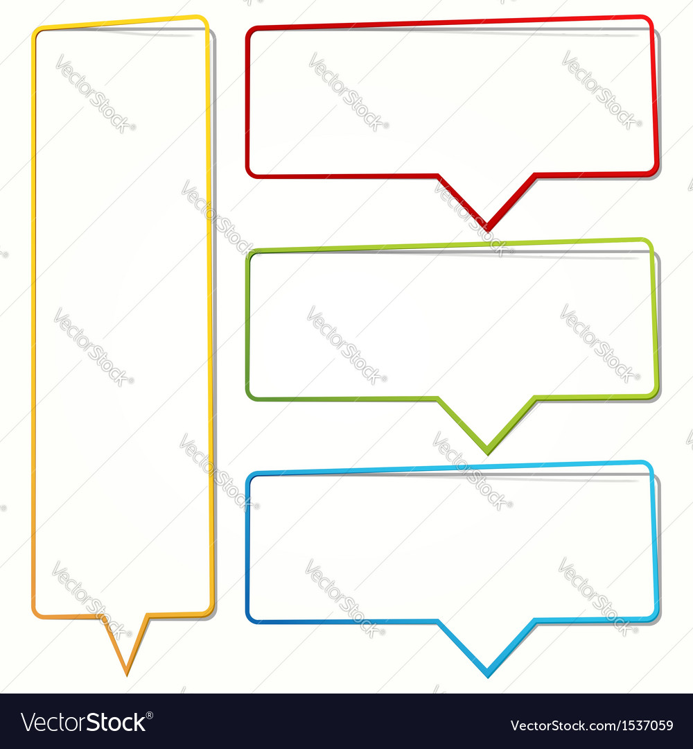 Empty dialogue frame sticker vector | Price: 1 Credit (USD $1)