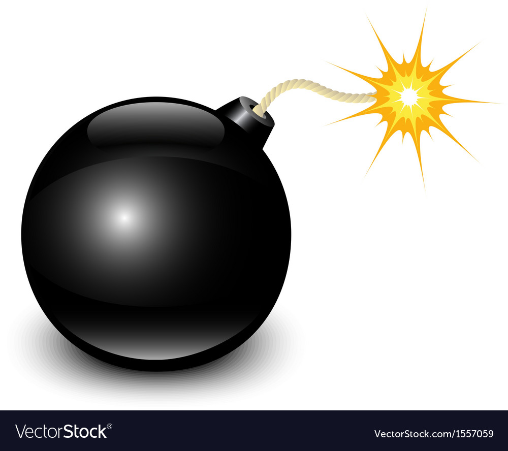 Glossy black bomb vector | Price: 1 Credit (USD $1)