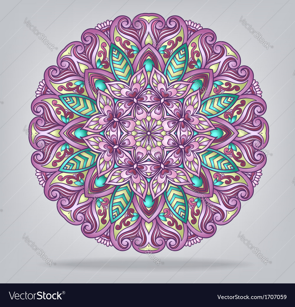 Round ornamental ethnic ornament vector | Price: 1 Credit (USD $1)