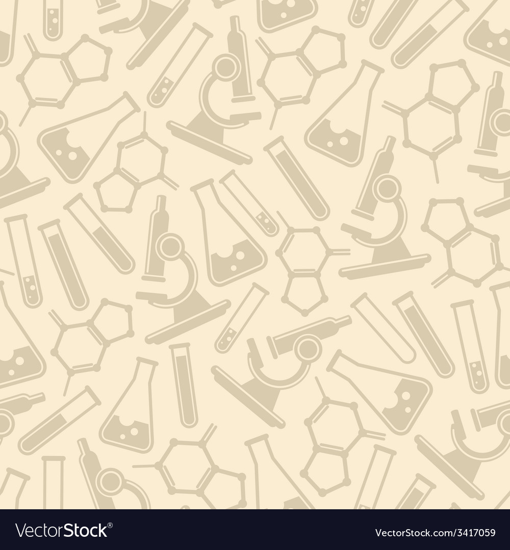 Seamless background with laboratory equipmen vector | Price: 1 Credit (USD $1)