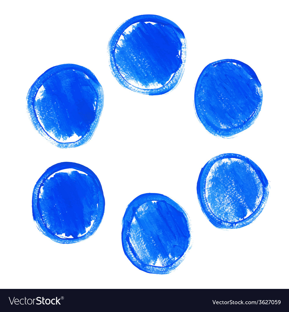 Set of blue acrylic round stains vector | Price: 1 Credit (USD $1)