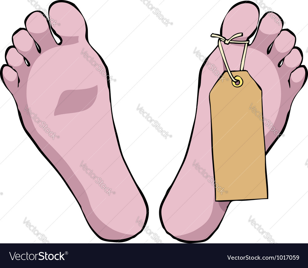Toe tag vector | Price: 1 Credit (USD $1)