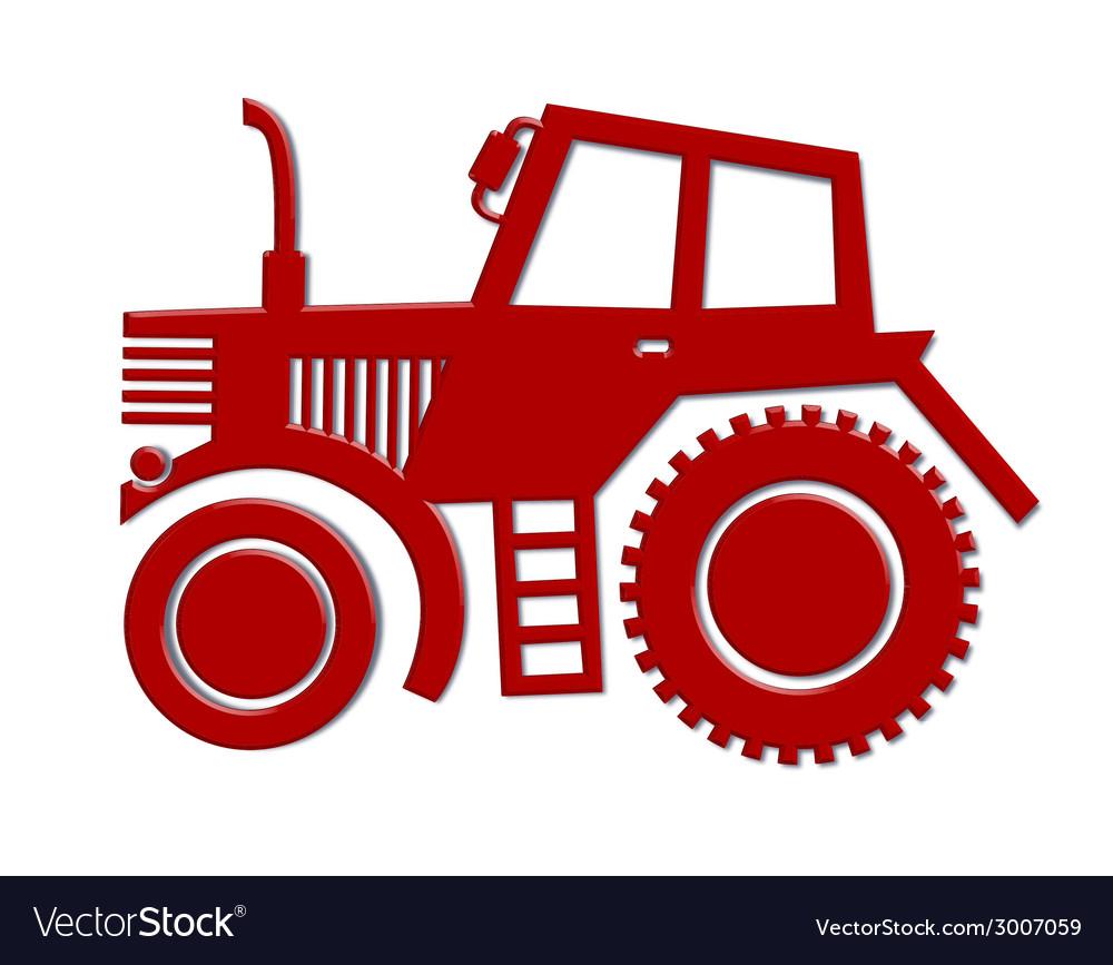 Tractor car icon vector