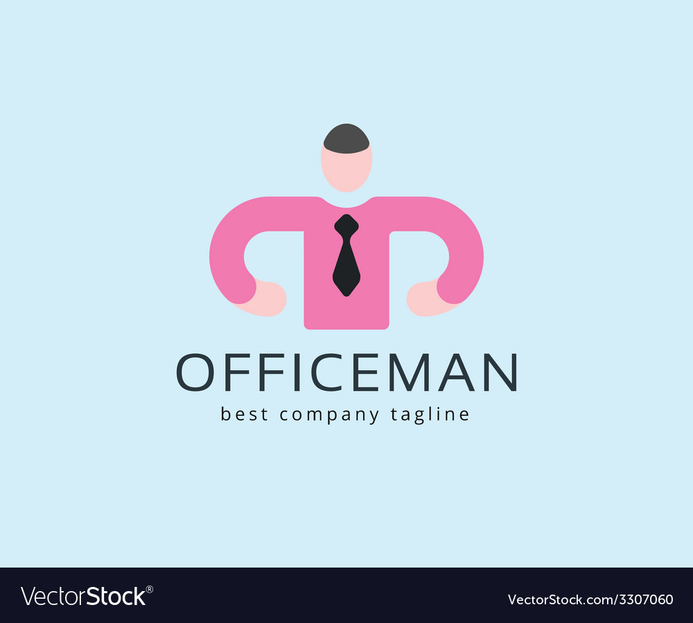 Abstract office man logo icon concept logotype vector | Price: 1 Credit (USD $1)