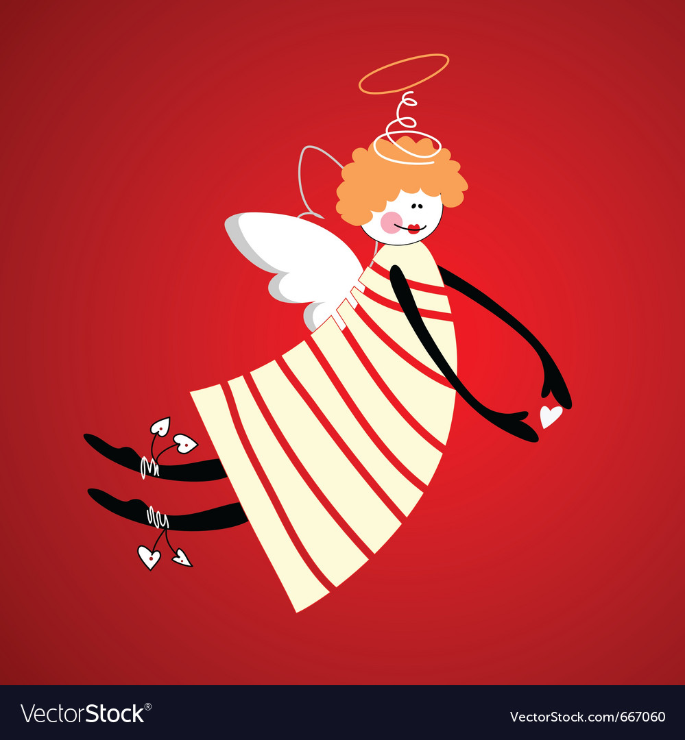 Angel of love happiness and harmony vector | Price: 1 Credit (USD $1)