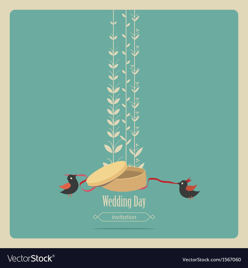 Blue weddings invitation vector | Price: 1 Credit (USD $1)
