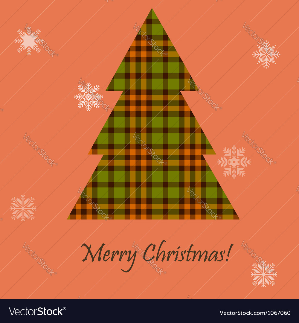 Card with a scottish tree vector | Price: 1 Credit (USD $1)