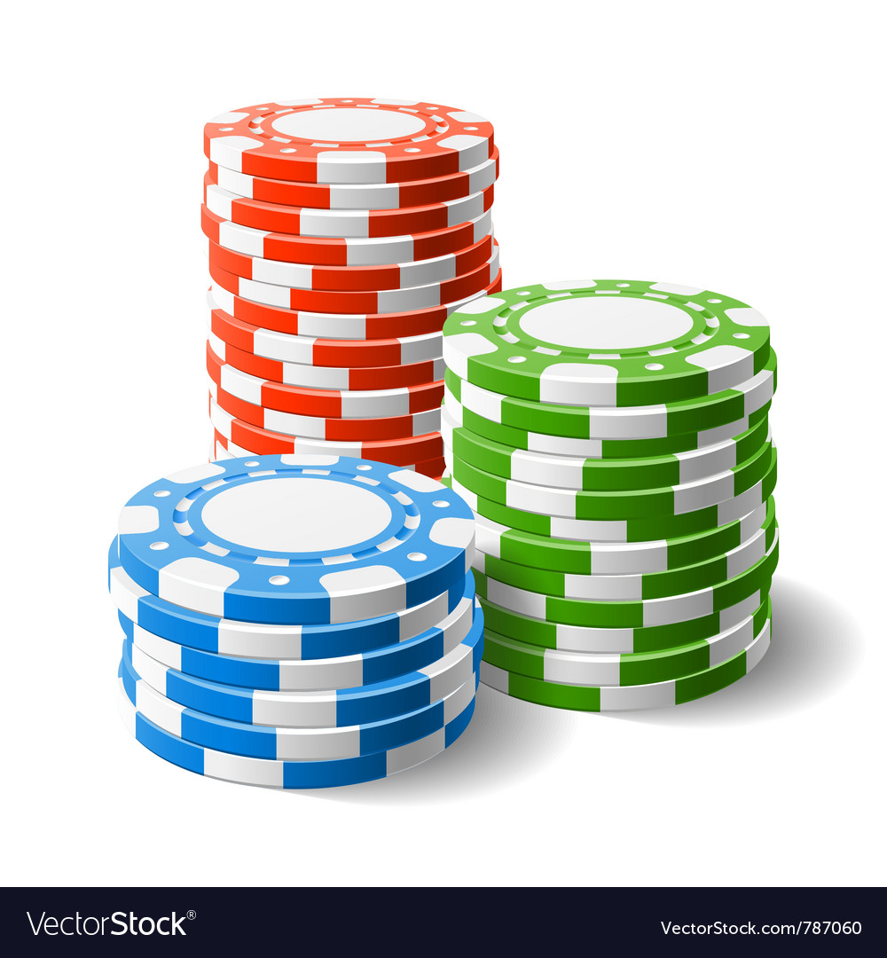 Casino chips stacks vector | Price: 3 Credit (USD $3)