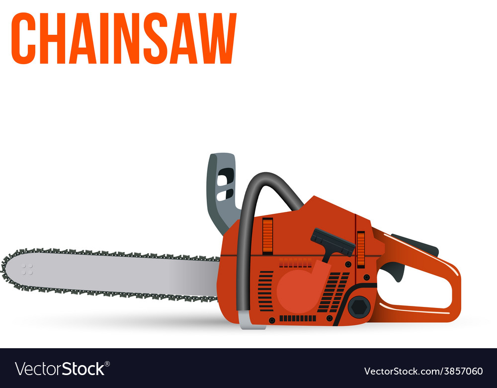Chainsaw isolated on white background vector | Price: 1 Credit (USD $1)