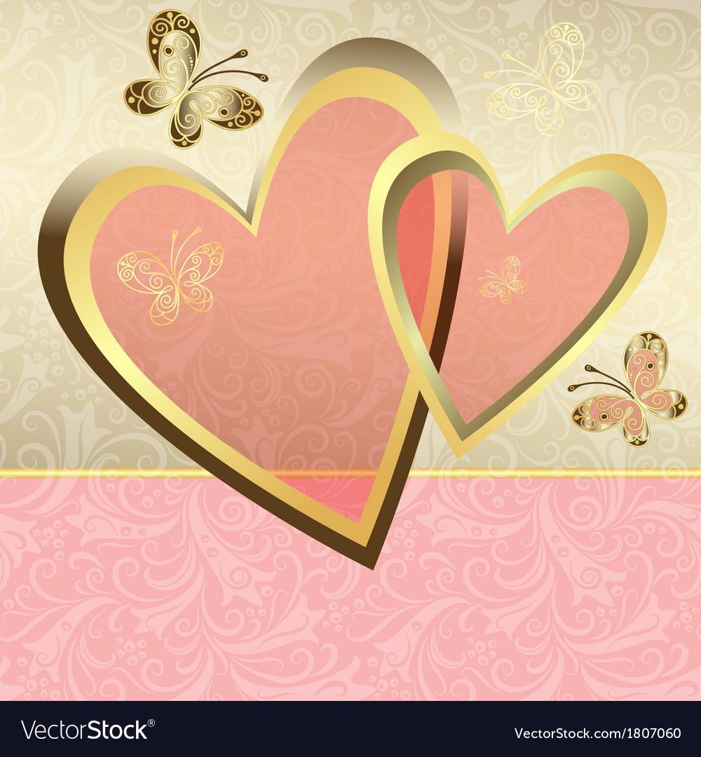 Delicate valentine frame vector | Price: 1 Credit (USD $1)