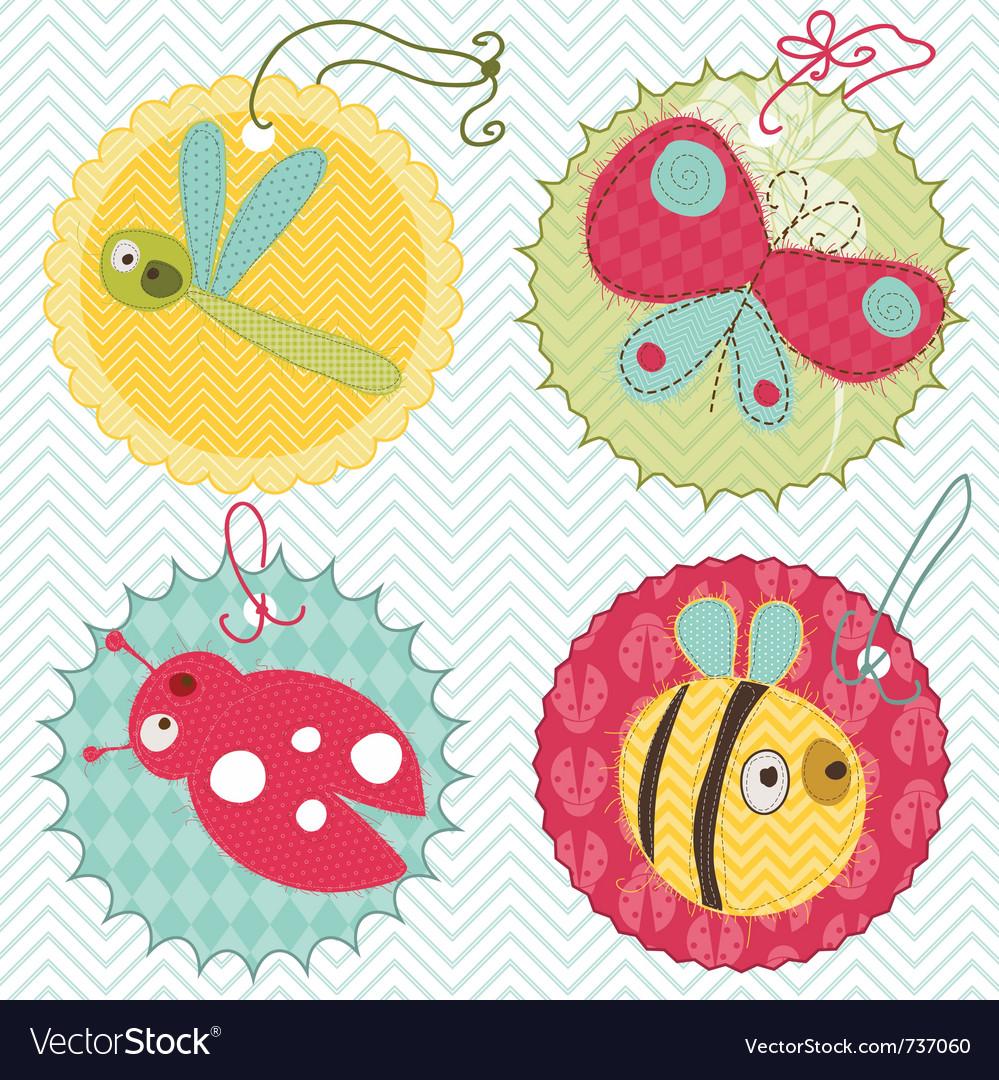 Design elements for baby scrapbook vector | Price: 1 Credit (USD $1)
