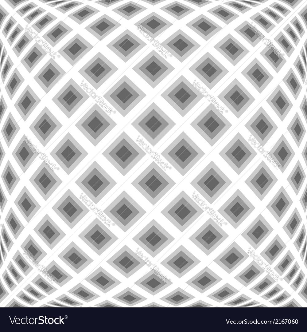 Design monochrome warped diamond pattern vector | Price: 1 Credit (USD $1)