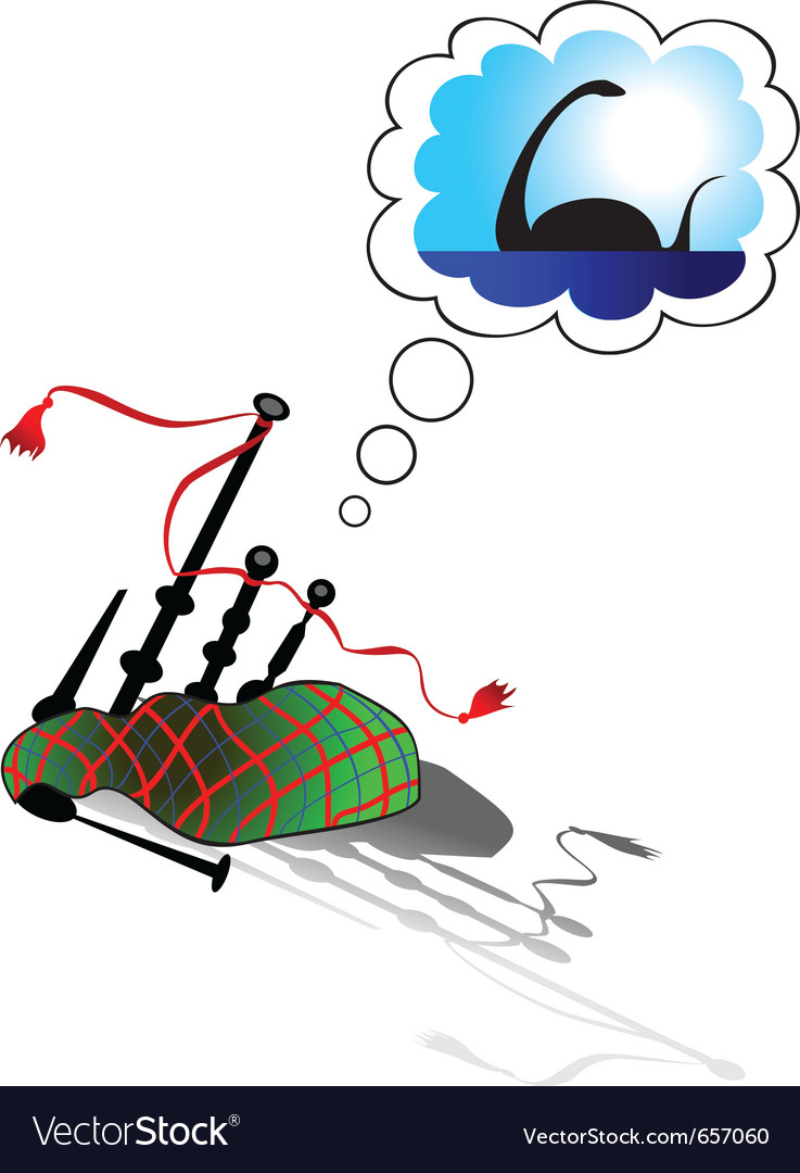 Dream of bagpipes vector | Price: 1 Credit (USD $1)