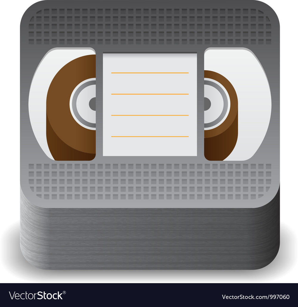 Icon for video cassette vector | Price: 3 Credit (USD $3)