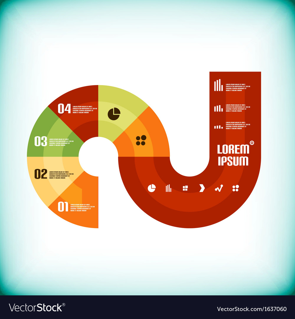 Modern business circle infographics template vector | Price: 1 Credit (USD $1)