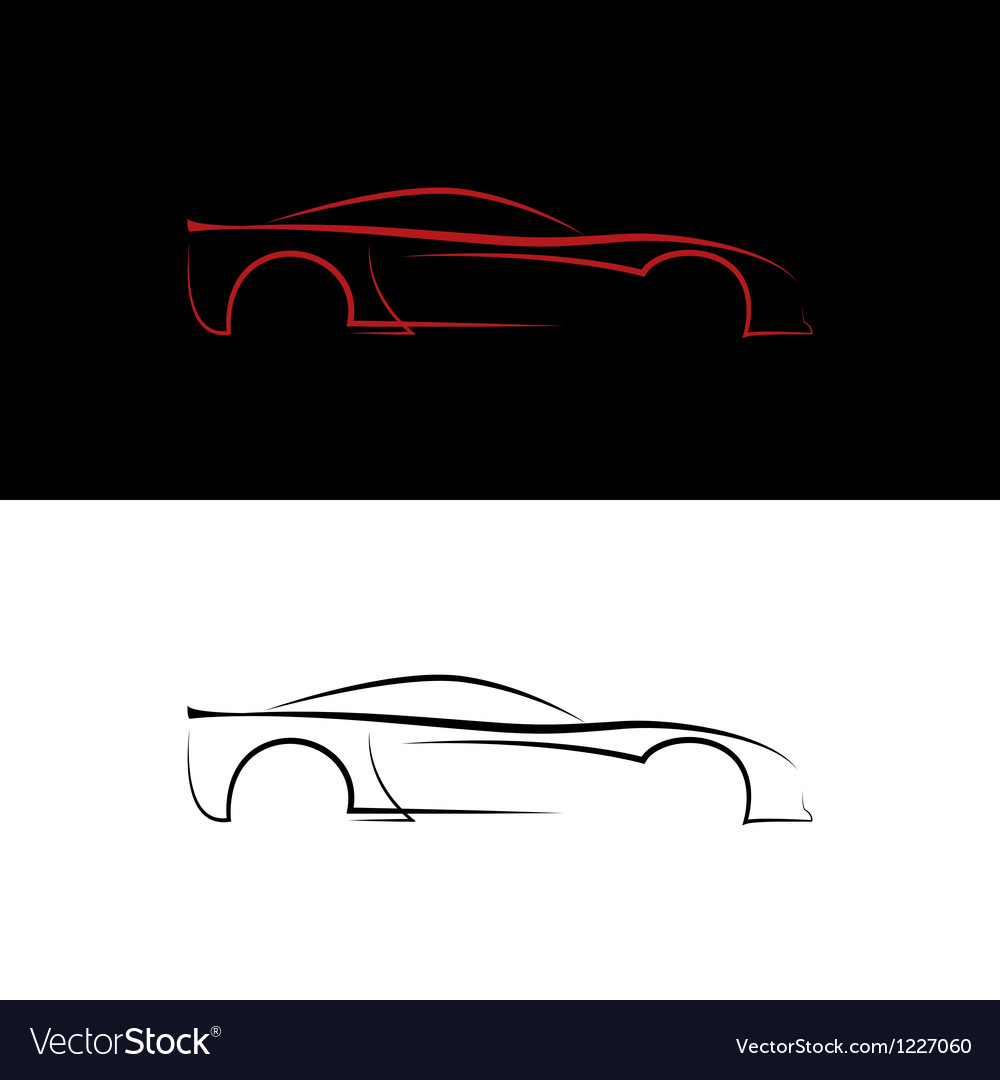 Red and black car logos vector | Price: 1 Credit (USD $1)