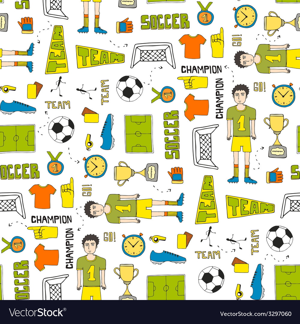 Soccer texture vector | Price: 1 Credit (USD $1)