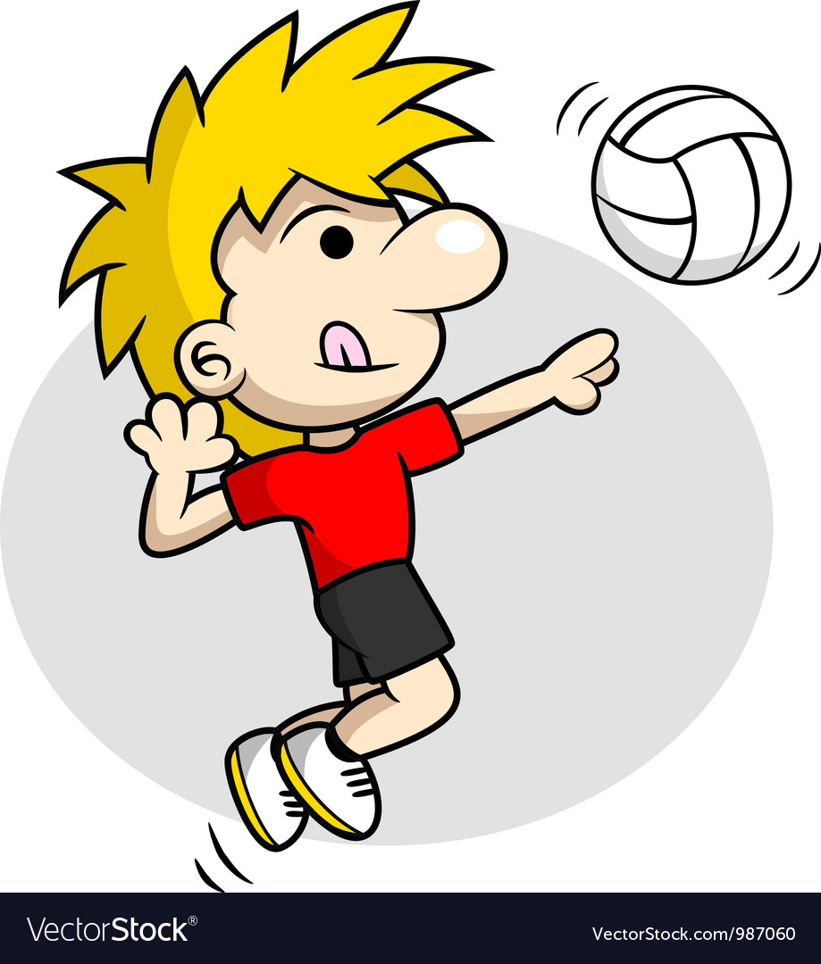 Volleyball spike vector | Price: 1 Credit (USD $1)